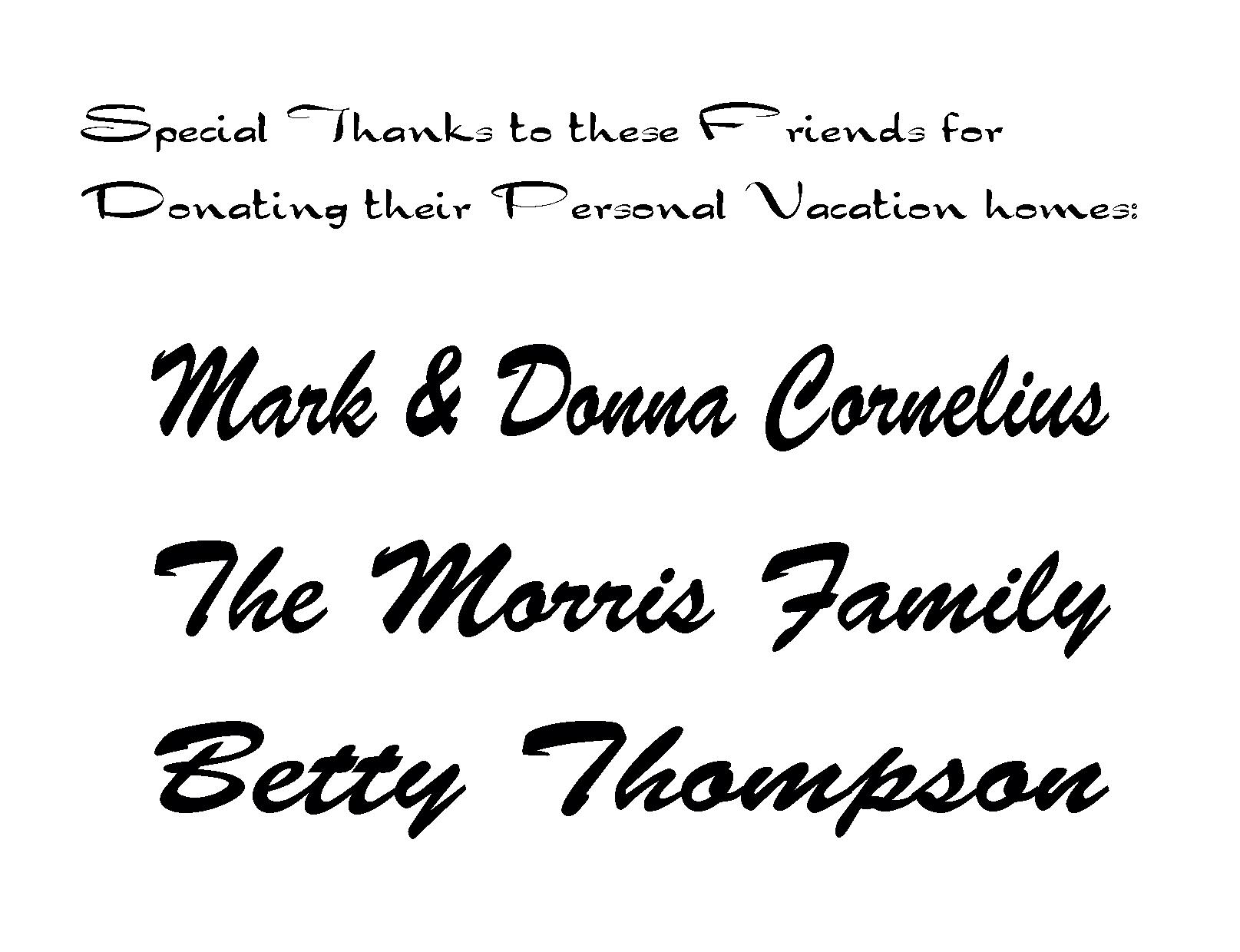 Cornelius, Morris, Thompson Vacation Homes